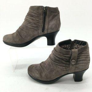 Dansko Women 37 Buffy Casual Ankle Booties Grey Pl